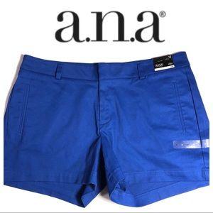 a.n.a. Shorts NWT royal blue stretchy twill 12